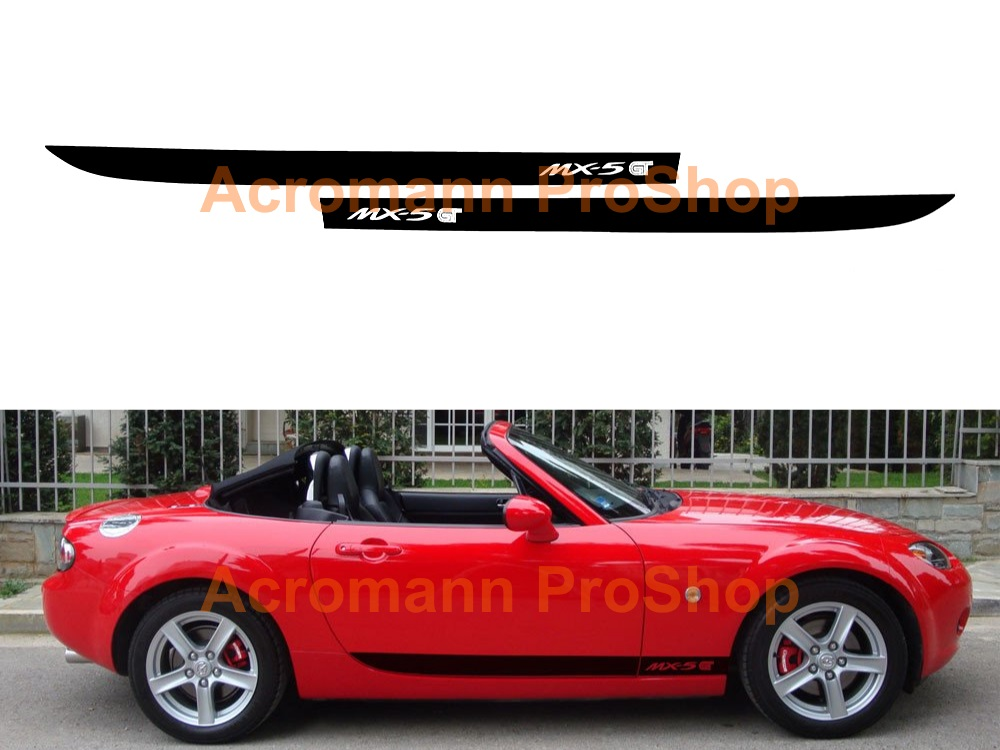Mazda MX-5 GT Miata Side Stripe Door Decal (Style#18) x 1 pair