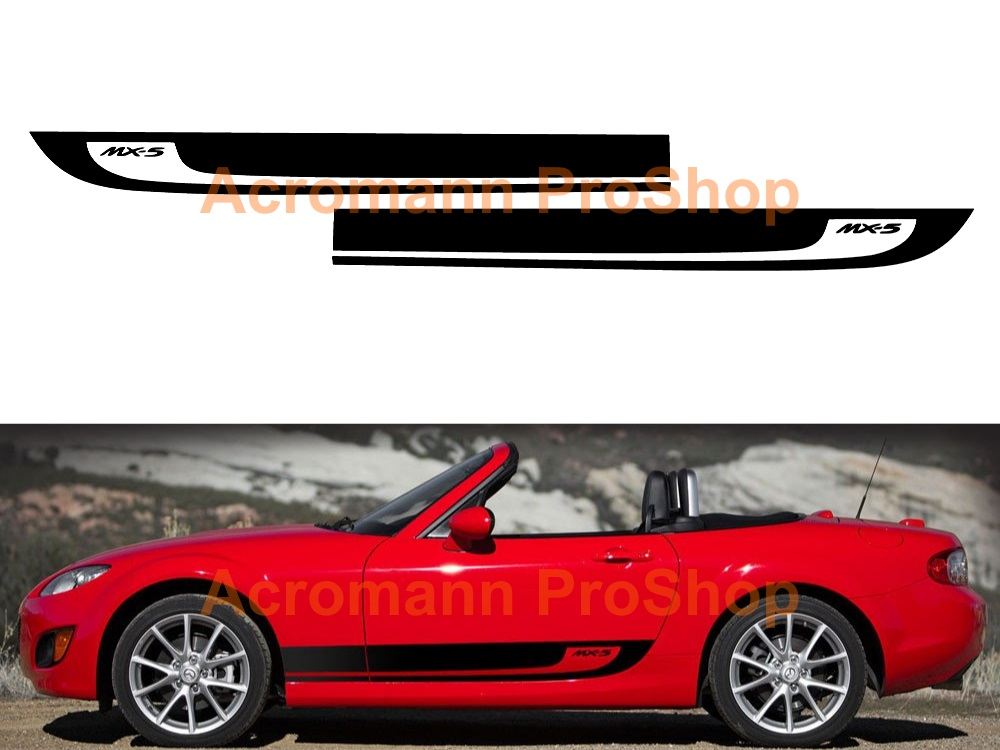 Mazda MX-5 Miata Side Stripe Door Decal (Style#19) x 1 pair
