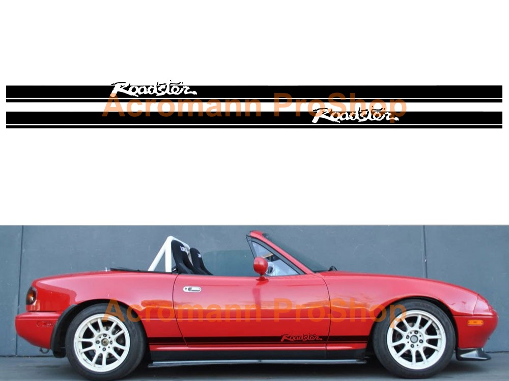Mazda MX-5 Miata Roadster Side Stripe Door Decal (Style#1) pair