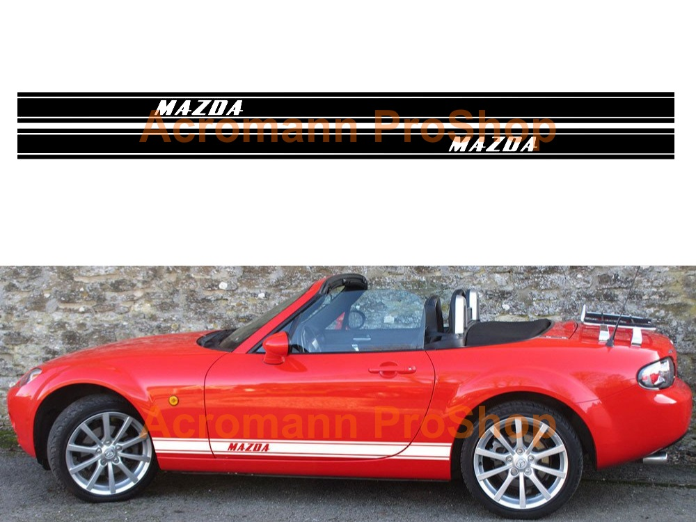 Mazda MX-5 Miata Side Stripe Door Decal (Style#21) x 1 pair