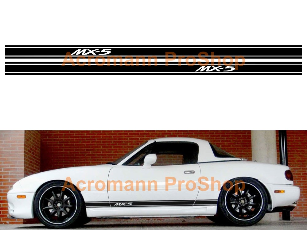 Mazda MX-5 Miata Side Stripe Door Decal (Style#22) x 1 pair