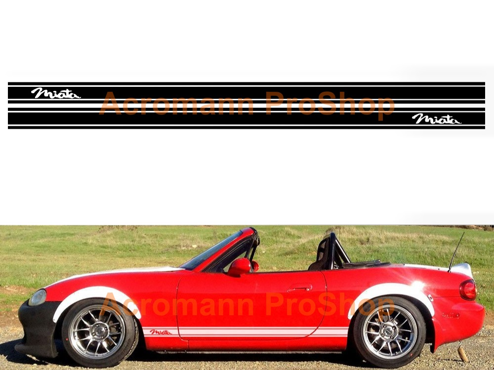 Mazda MX-5 Miata Side Stripe Door Decal (Style#2) x 1 pair