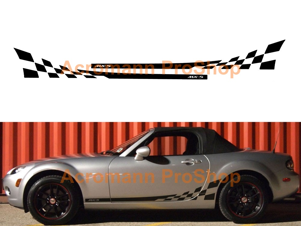 Mazda MX-5 Miata Side Stripe Door Decal (Style#4) x 1 pair