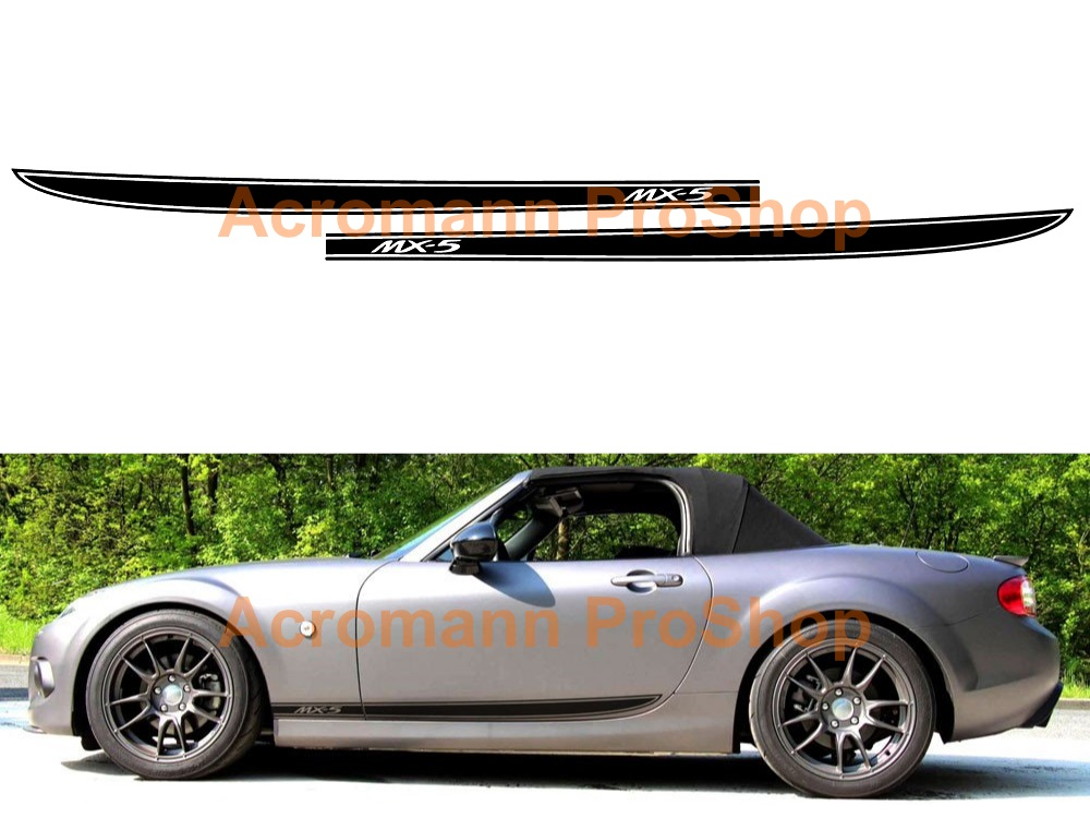 Mazda MX-5 Miata Side Stripe Door Decal (Style#5) x 1 pair