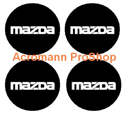 Mazda 2.2inch Wheel Cap Decal (Style#2) x 4 pcs