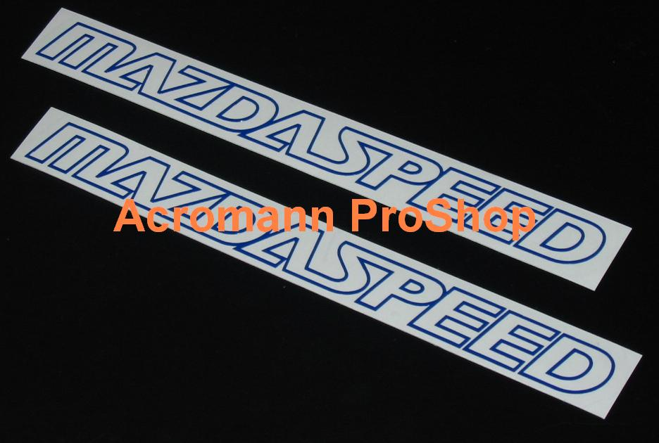 MAZDASPEED 6inch Decal (Style#1) x 2 pcs