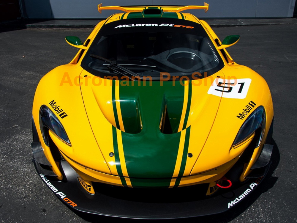 McLaren P1 GTR Hood Roof Top Racing Rally Stripes Decals Sticker