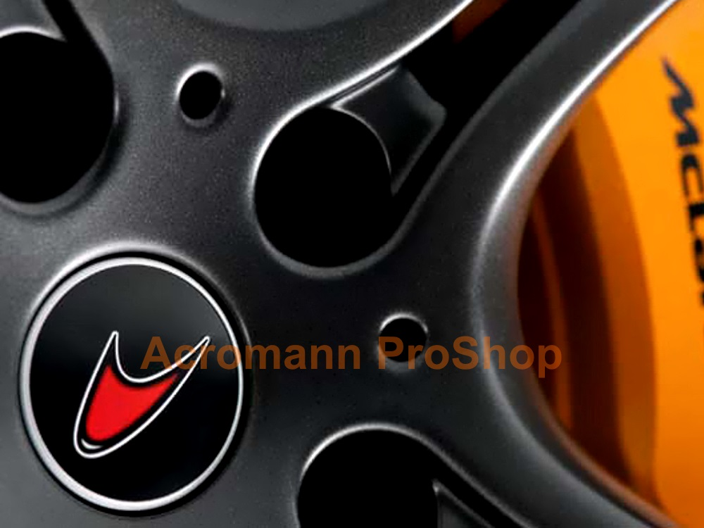 McLaren 2.2inch Wheel Cap Decal x 4 pcs