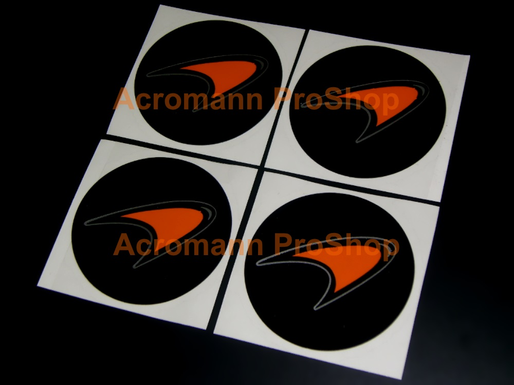 McLaren 2.2inch Wheel Cap Decal (Style#2) x 4 pcs