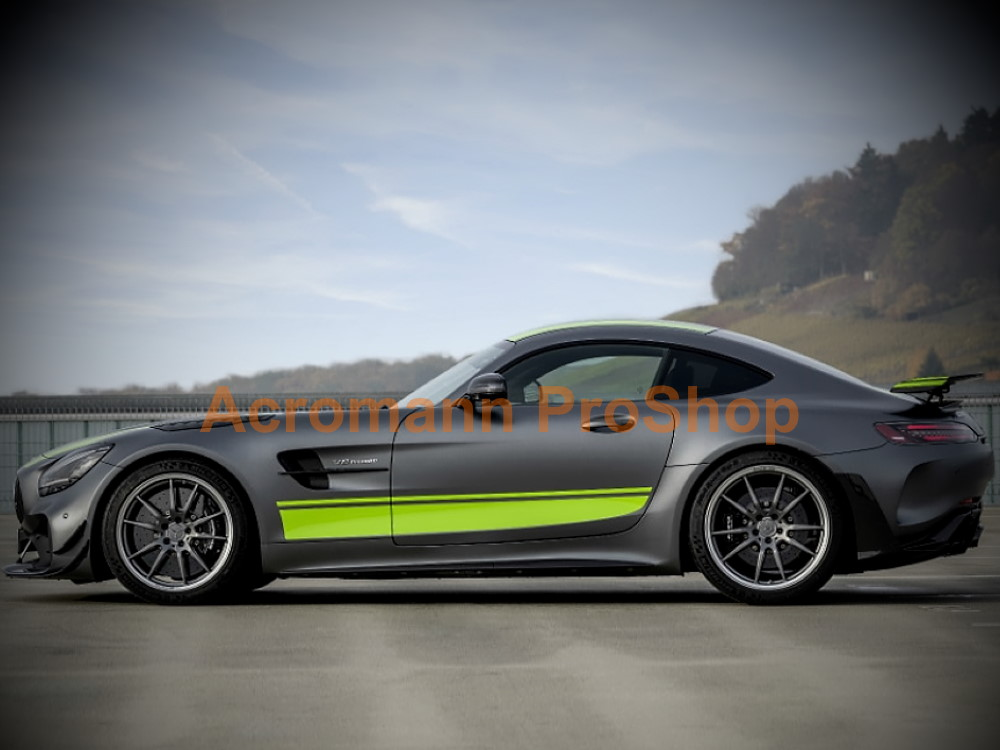 AMG C190 R190 GTR Pro S C Coupe Side Stripes Door Decals Sticker