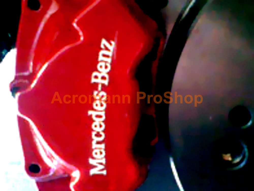 Mercedes-Benz 4inch curved Brake Caliper Decal (Style#1) x 2 pcs