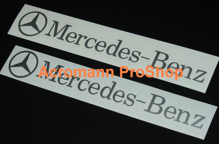 Mercedes-Benz 6inch Decals Stickers (Style#1) x 2 pcs