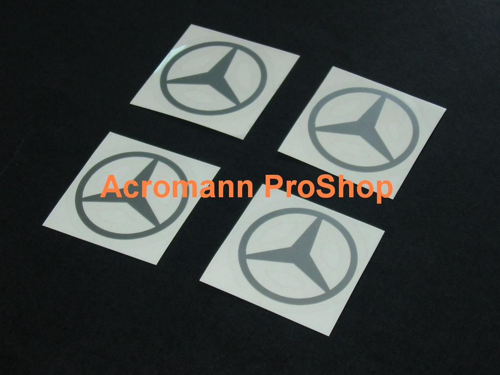 Mercedes-Benz 2.2inch Wheel Cap Decal (Style#2) x 4 pcs