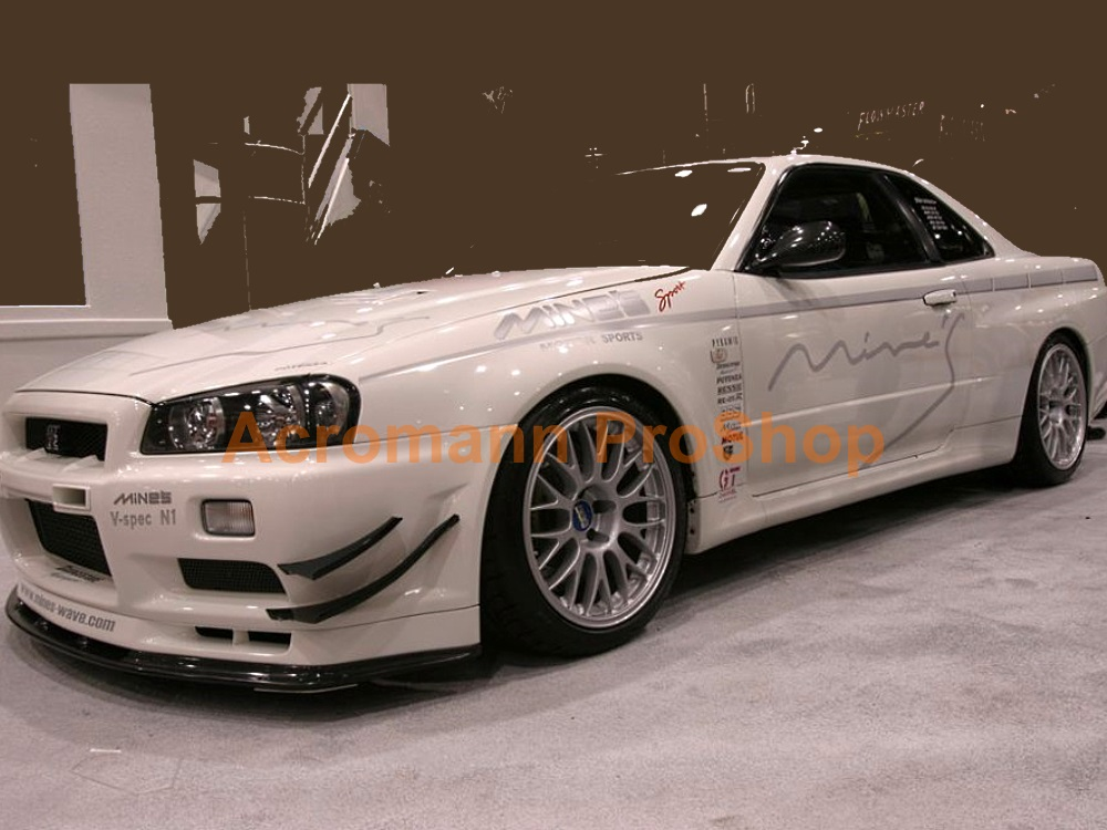 Mine's Nissan Skyline GTR R34 N1 LM Side Stripes Decals Sticker