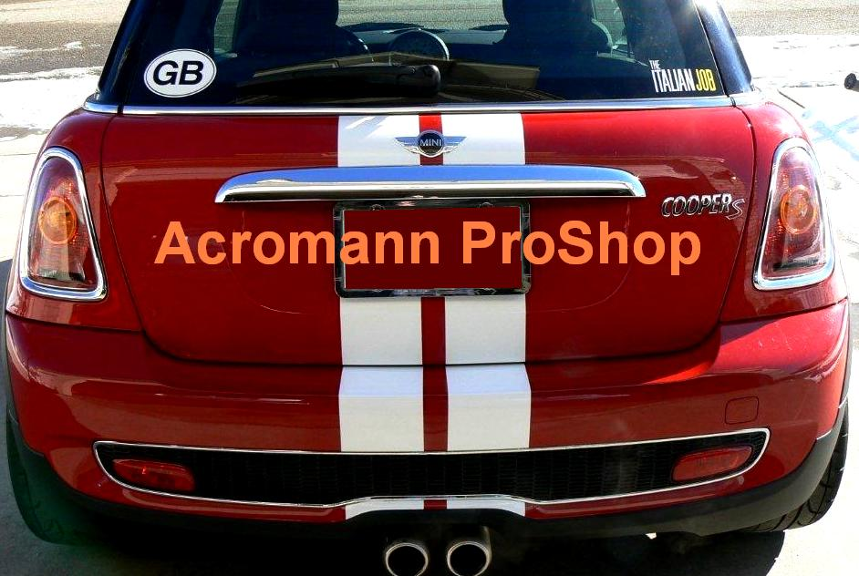 MINI CHALLENGE Style Rear Trunk Stripes x 1 pair (middle)
