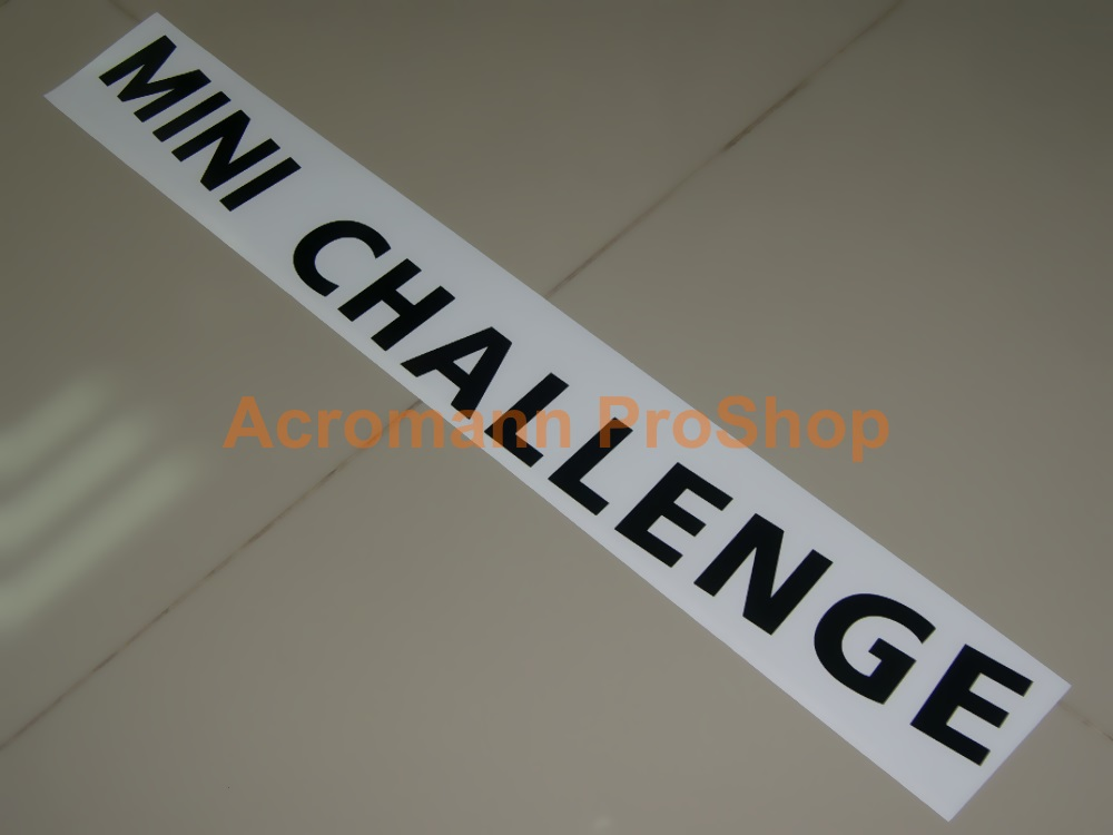 MINI CHALLENGE Windshield Decal (Style#3) - Curved