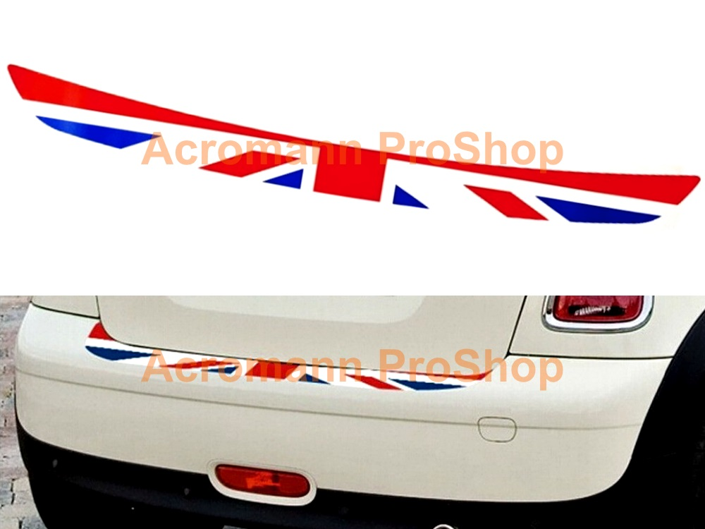 Mini Cooper Rear Bumper Sill GB Union Jack Decal x 1pc