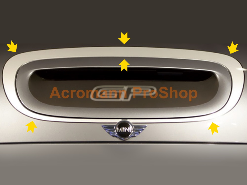 Mini Cooper S JCW R53 GP Bonnet Scoop Trim Decal (Style#1) x 1pc