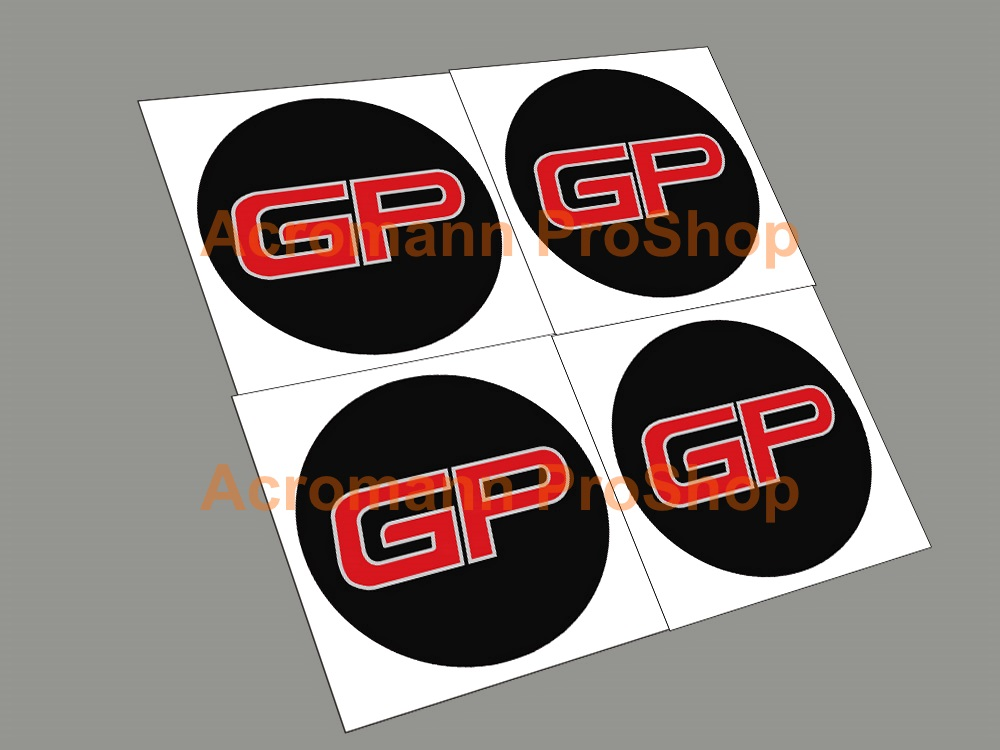 Mini Cooper S JCW GP 2inch Wheel Cap Decal x 4 pcs