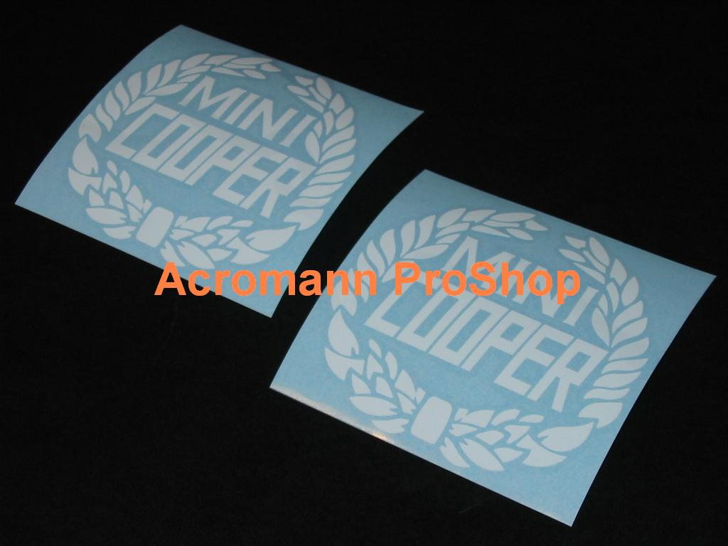 Classic Mini Cooper Laurel Wreath 3.5inch Decal (Style#1) x 2pcs