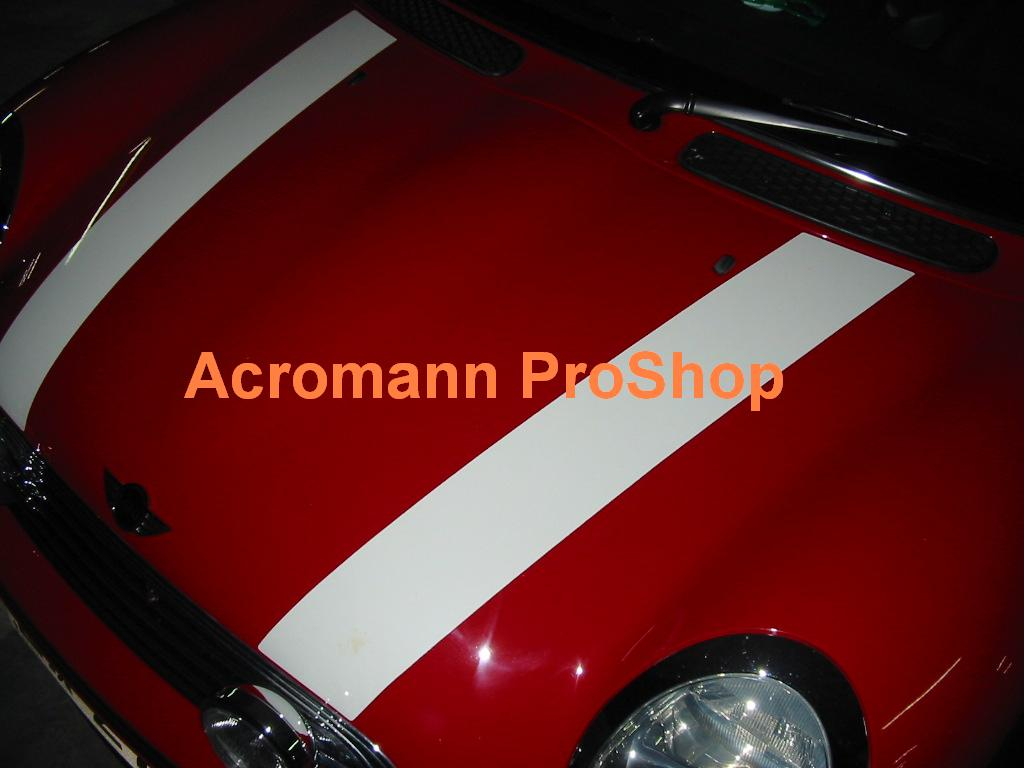 New Mini Cooper Bonnet Stripes (Style#1) x 1 pair (LHS & RHS)