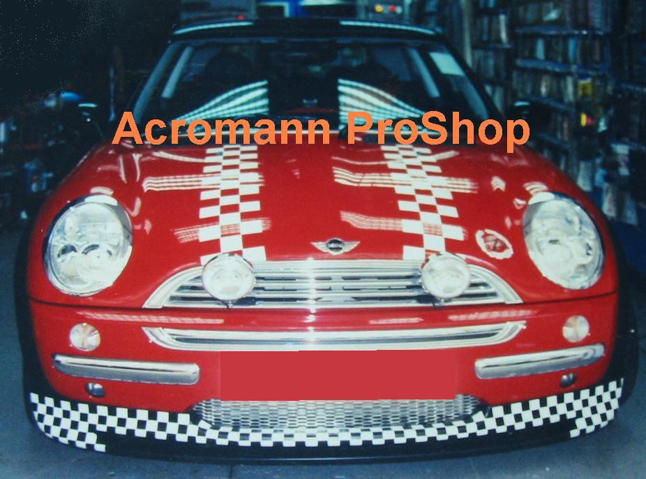 New Mini Cooper Bonnet Decal (Style#2) x 1 pair (LHS & RHS)