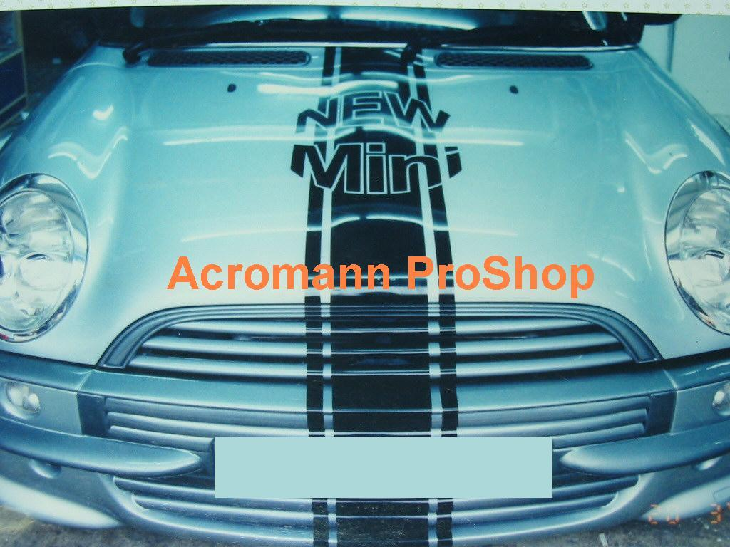 New Mini Cooper Bonnet Stripes (Style#3) x 1 pc (middle)