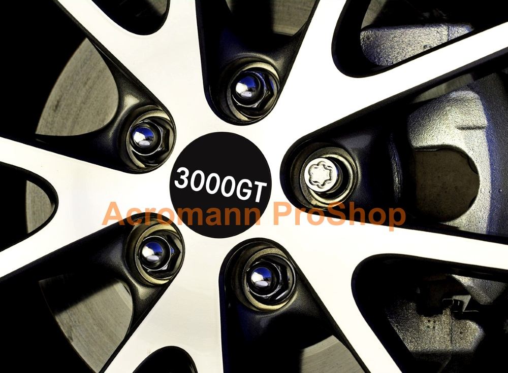 Mitsubishi 3000GT Printed 2.2inch Wheel Cap Decal x 4 pcs
