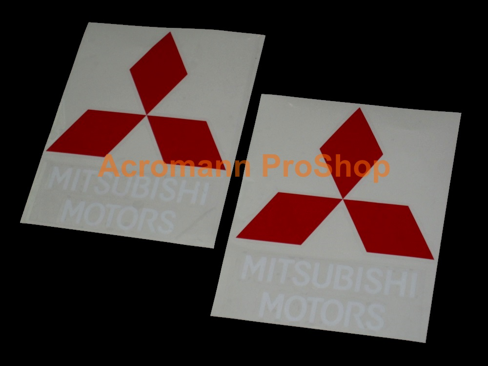Mitsubishi Motors 4inch Decal (Style#1) x 2 pcs