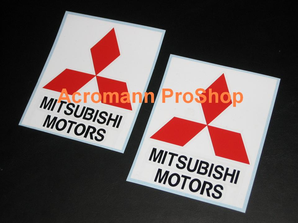 Mitsubishi Motors 5inch Decal (Style#2) x 2 pcs