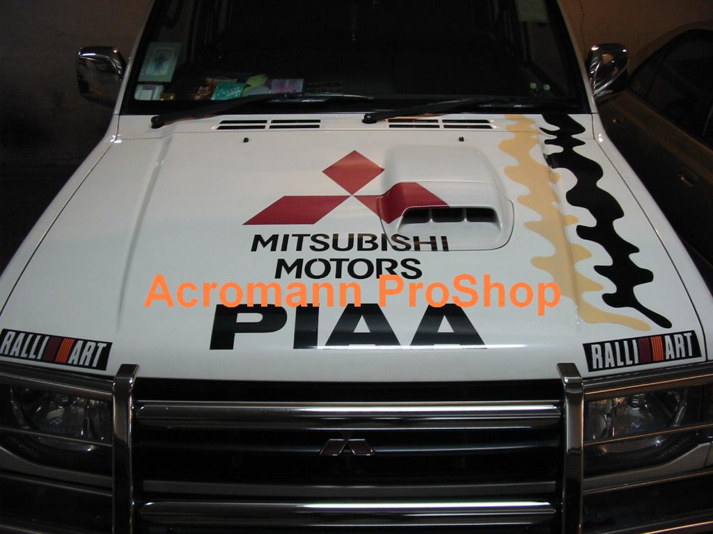 Mitsubishi Motors Large Bonnet Decal x 1 pc