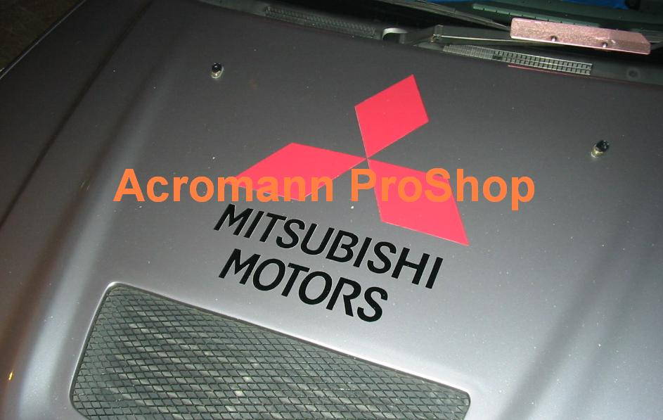 Mitsubishi Motors Medium Bonnet Decal x 1 pc