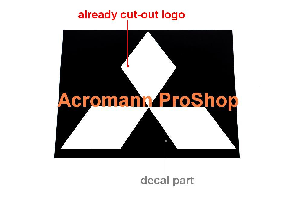 Mitsubishi Diamonds Logo 5inch Stencil Masking Decal x 2 pcs
