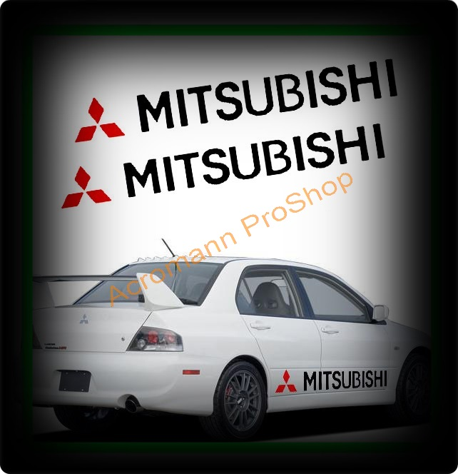 Mitsubishi Large Side Door Decal x 1 pair (LHS & RHS)