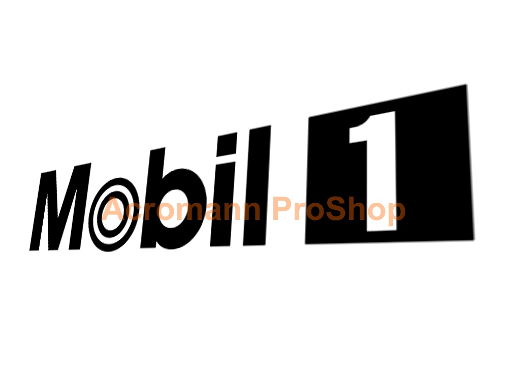 MOBIL 1 (Mobil One) oil 6inch Decal (Style#3) x 2 pcs