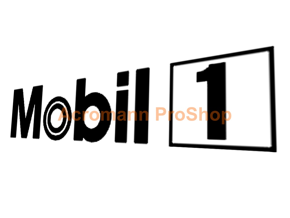 MOBIL 1 (Mobil One) oil 6inch Decal (Style#4) x 2 pcs