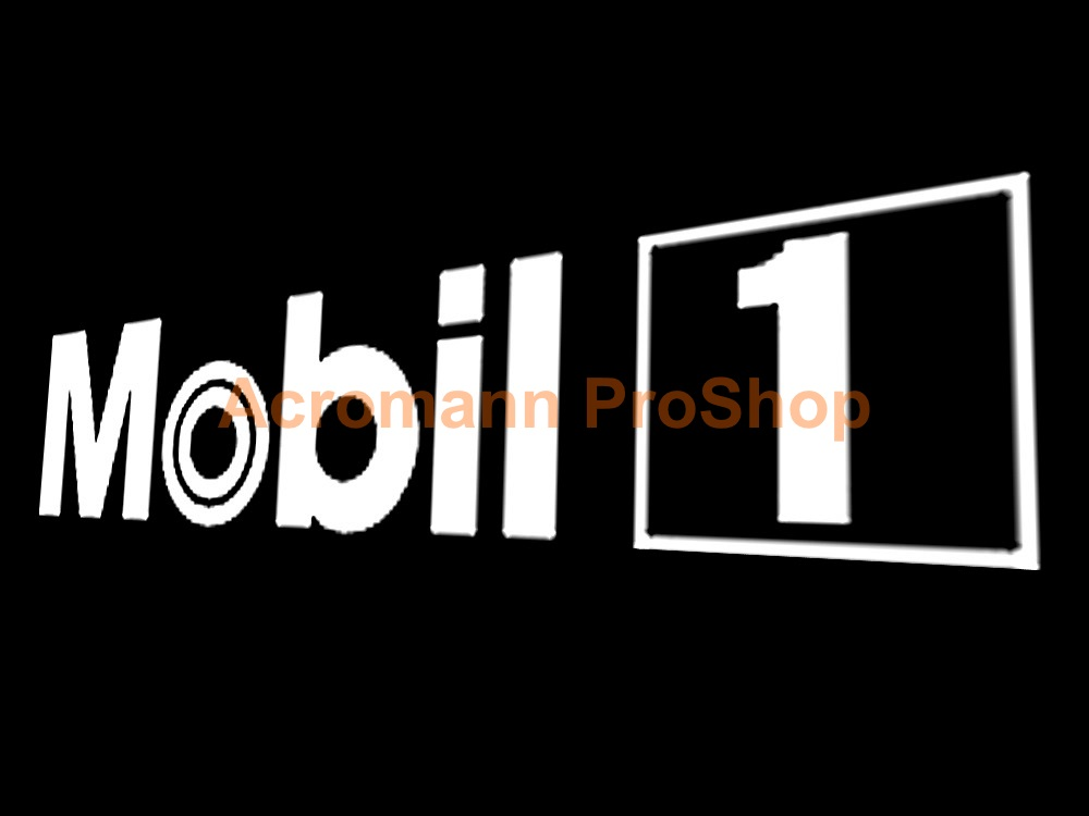 MOBIL 1 (Mobil One) oil Windshield Decal (Style#3)