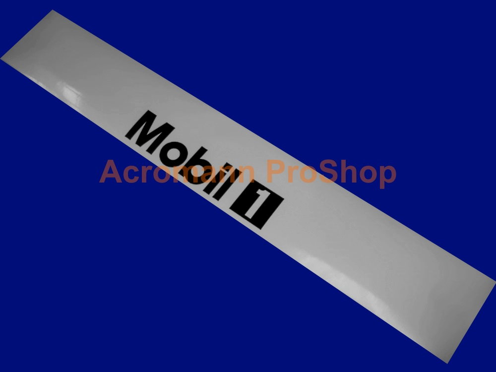 MOBIL 1 (Mobil One) oil Windshield Decal (Style#4)