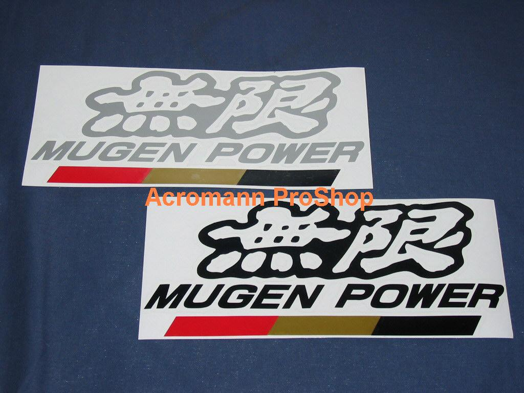 MUGEN 6inch Decal (Style#2) x 2 pcs