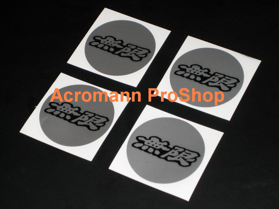 MUGEN 2.2inch Wheel Cap Decal x 4 pcs