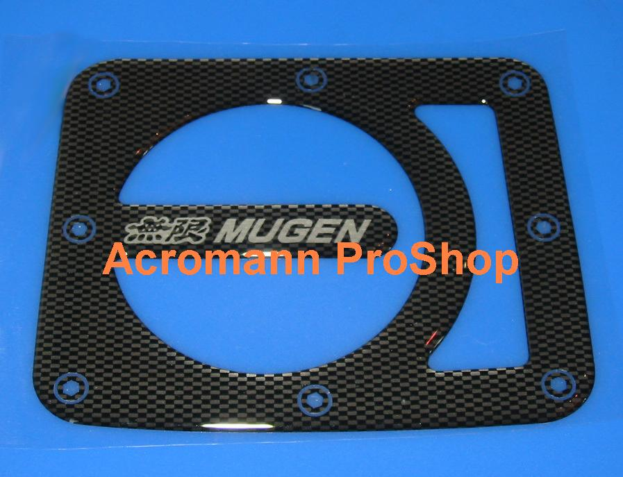 MUGEN Carbon Gas Door Emblem (Style#1)