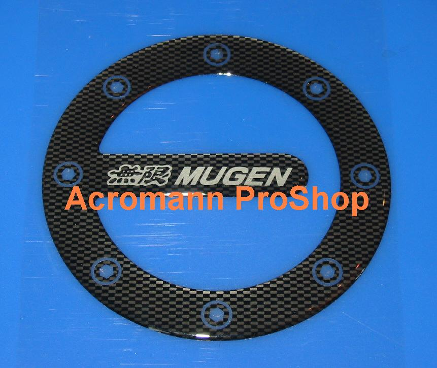 MUGEN Carbon Gas Door Emblem (Style#2)