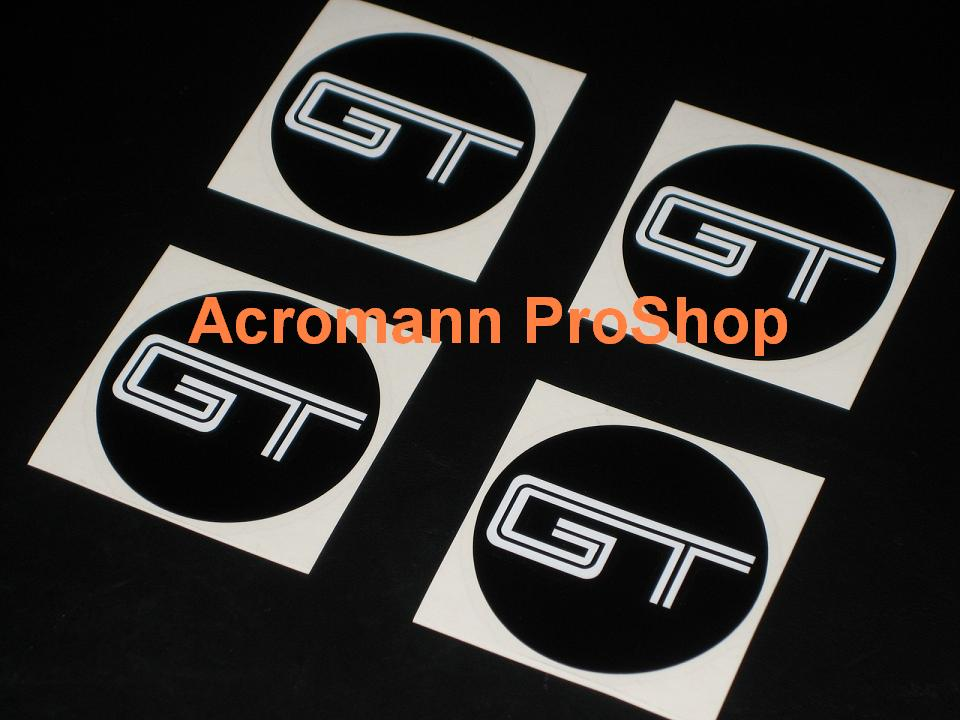 Mustang GT 2.2inch Wheel Cap Decal x 4 pcs