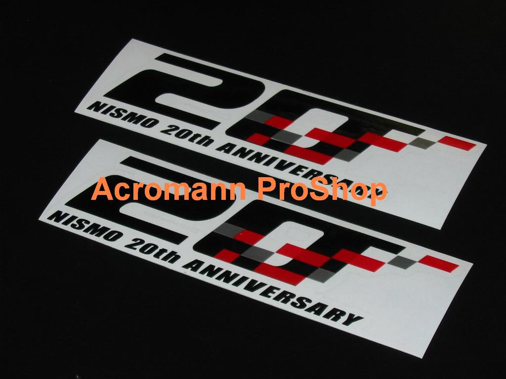 Nismo 20th Anniversary 6inch Decal x 2 pcs