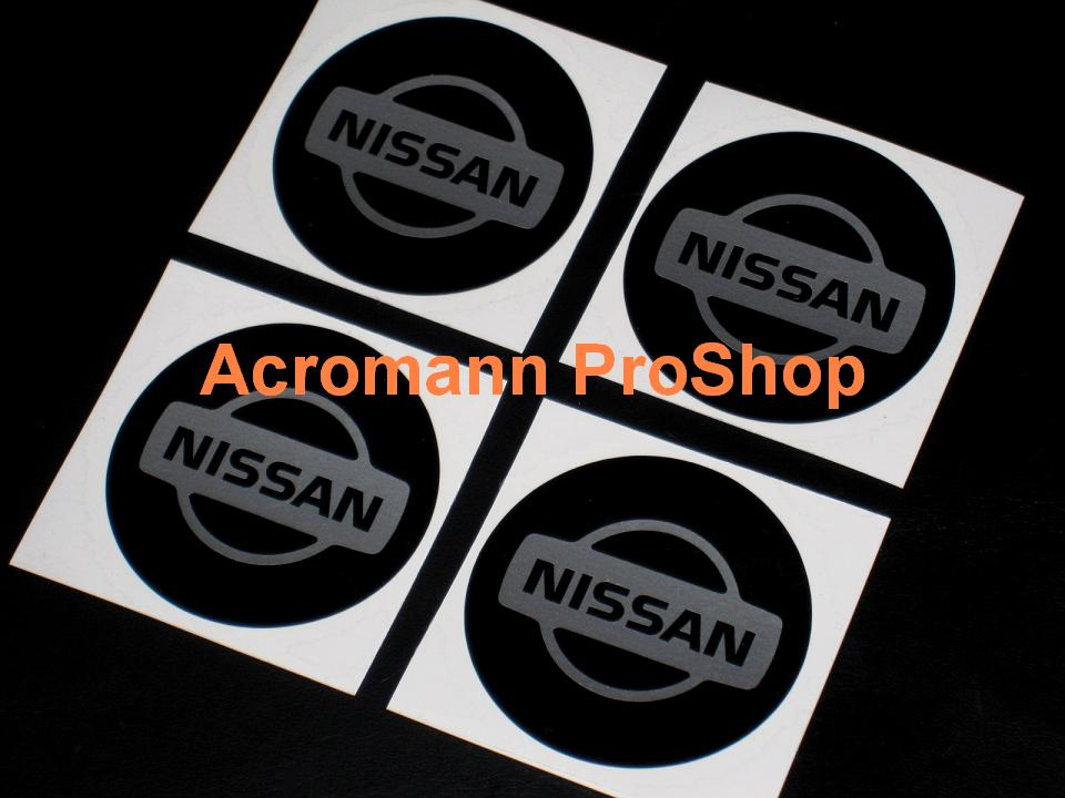 NISSAN 2.2inch Wheel Cap Decal (Style#1) x 4 pcs