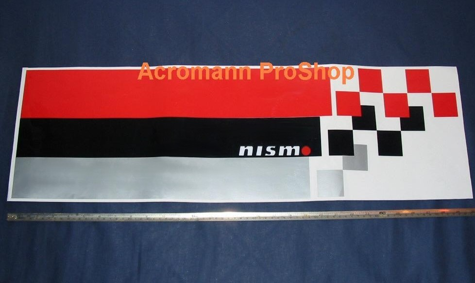NISMO S-tune Style Bonnet Hood Decal Sticker (Style#1) x 1 pc