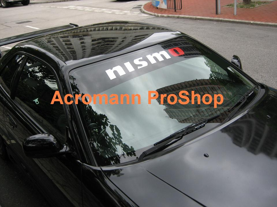NISMO Windshield Decal (Style#6) (new logo)