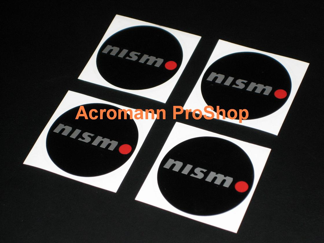 NISMO 2.2inch Wheel Cap Decal (Style#1) x 4 pcs