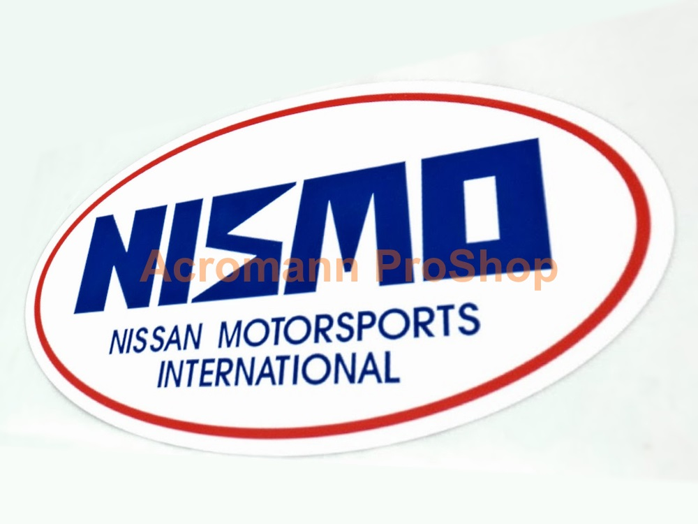 NISMO Oval 4inch Decal (Style#1) x 2 pcs
