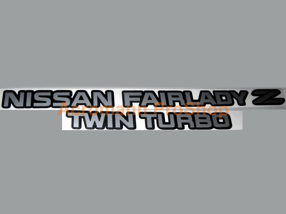 Nissan Fairlady Z Twin Turbo Rear Trunk Decal x 1 pc